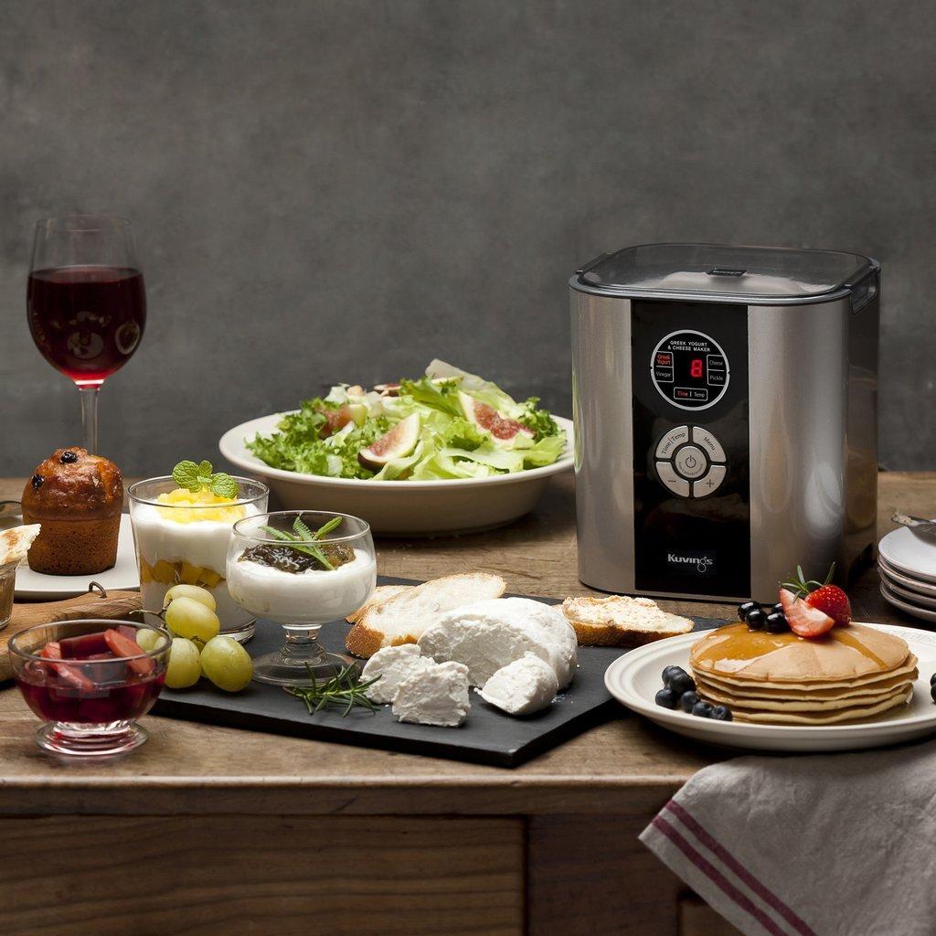 kuvings greek yogurt and cheese maker spread