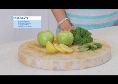 Apple, Lemon, Mint Parsley juice – Kuvings C7000