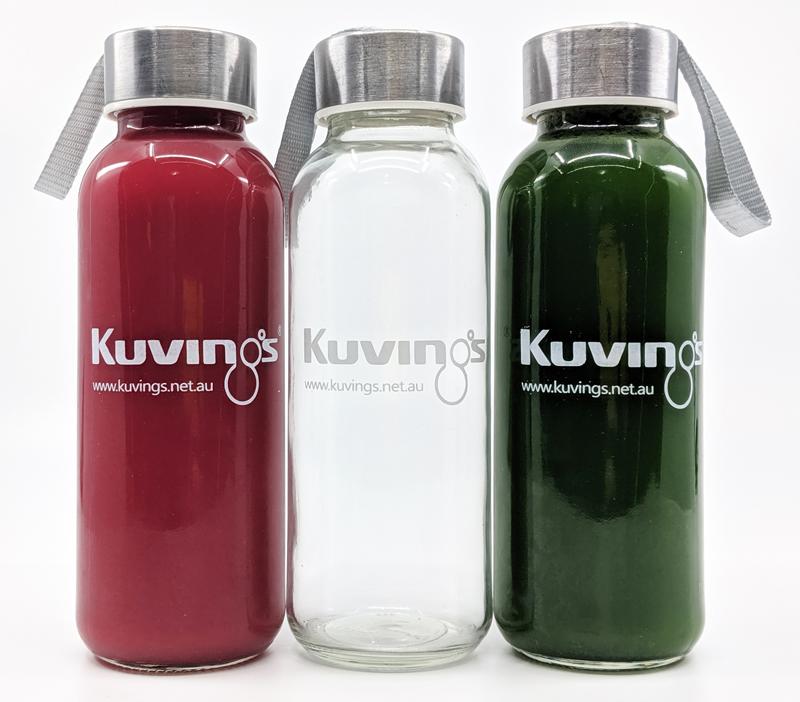 cafe juice bottles