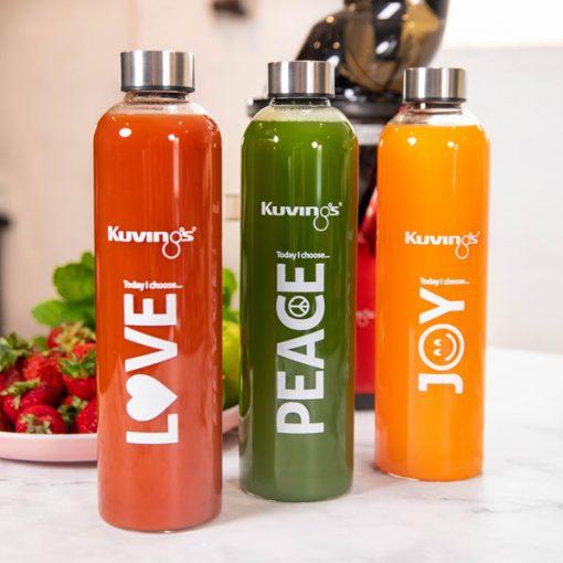 love peace joy bottles