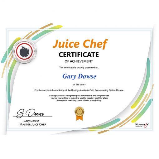 juice chef certificate